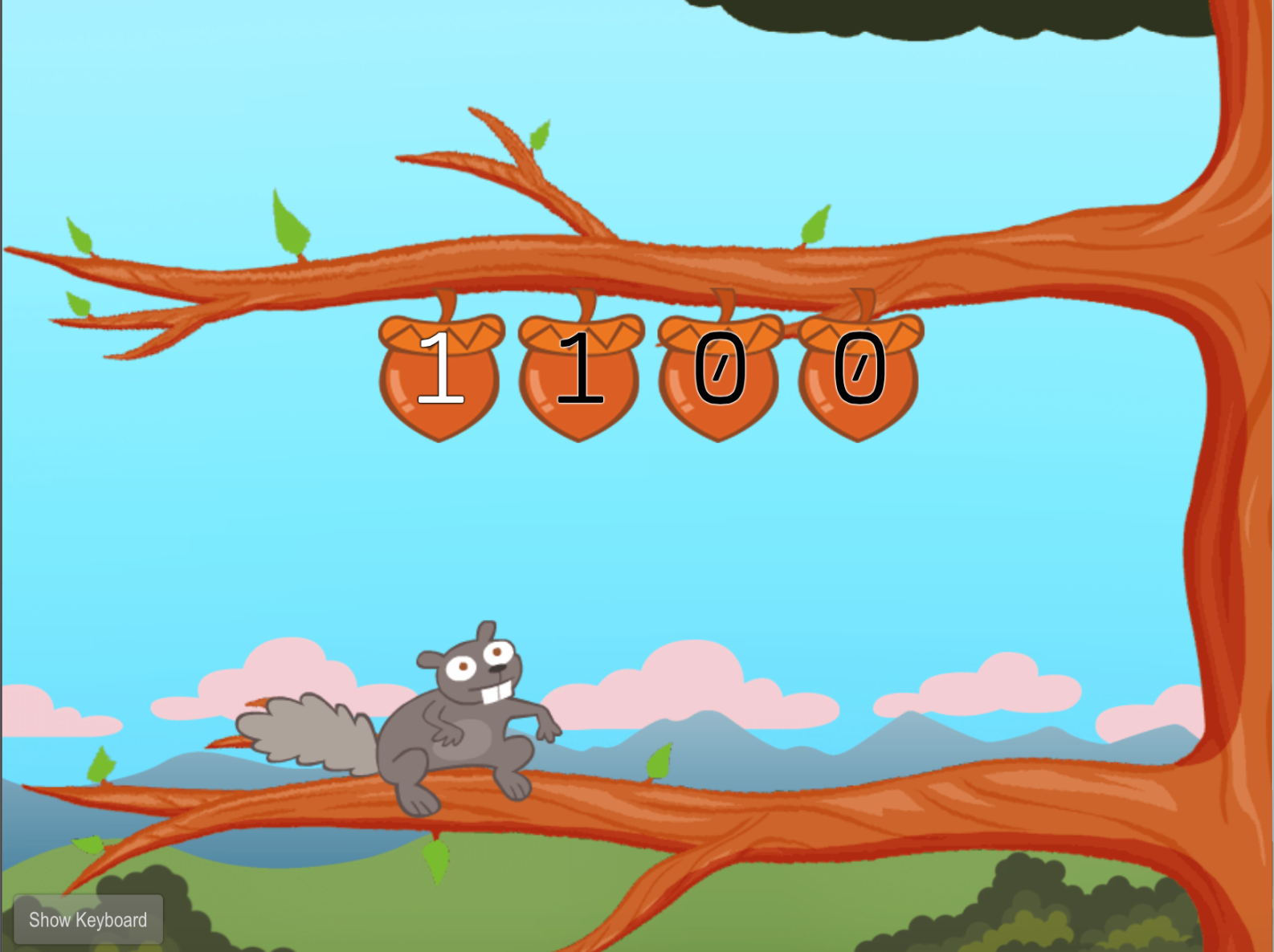 Typing Numbers: 1,2,9, and 0 with Squirrel | Game | Education.com