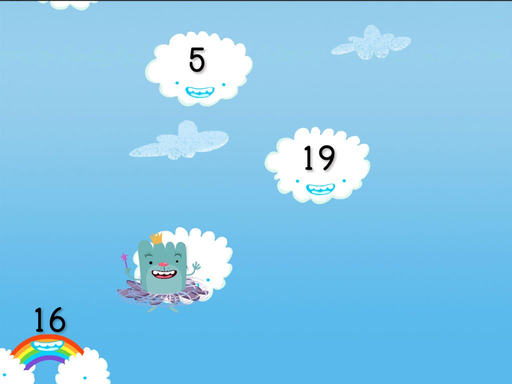 2nd grade Math Games: Odd and Even Numbers Cloud Catcher