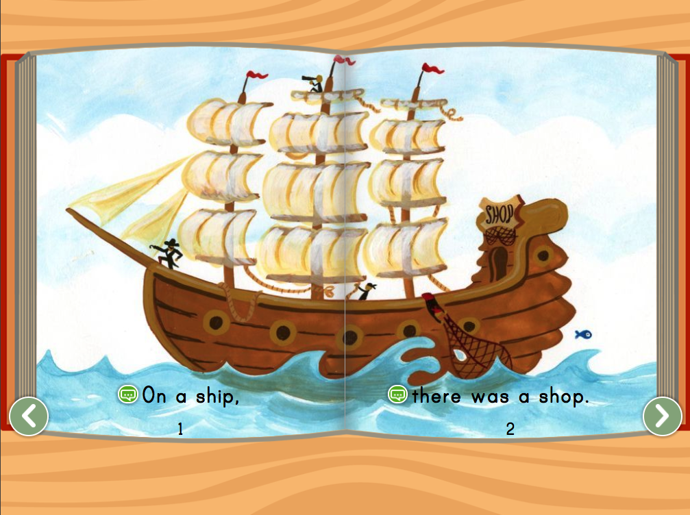 1st grade Reading & Writing Stories: On a Ship Story