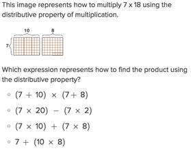 Properties of Multiplication: Distributive | Worksheet | Education.com