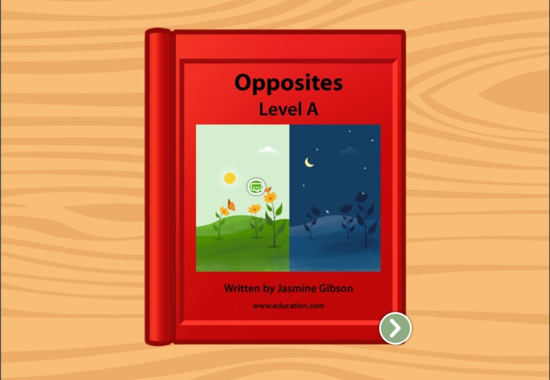 Kindergarten Reading & Writing Stories: Opposites: Level A