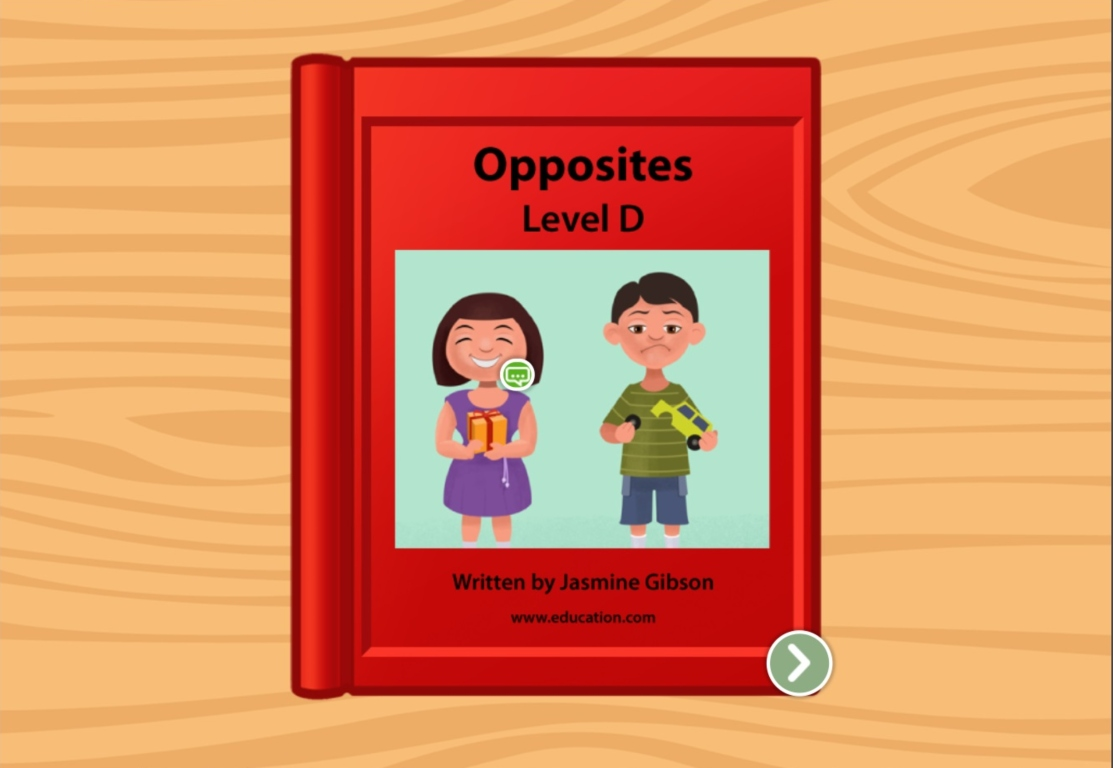 Kindergarten Reading & Writing Stories: Opposites: Level D