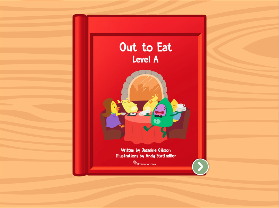 Preschool Reading & Writing Stories: Out To Eat: Level A