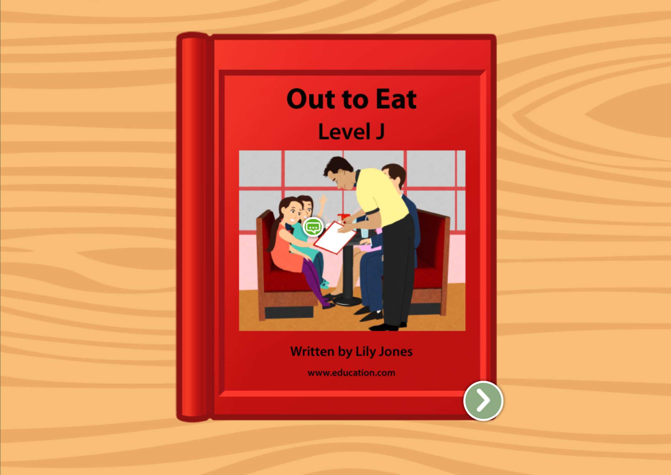 1st grade Reading & Writing Stories: Out To Eat: Level J