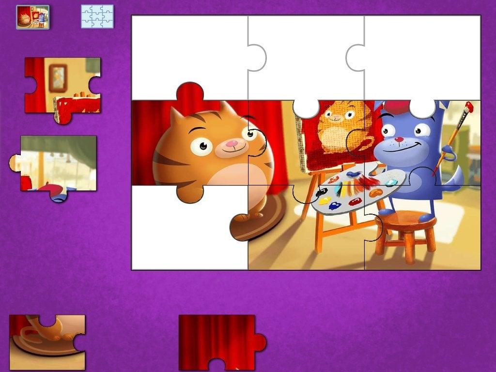 Preschool Math Games: Painter Floyd Puzzle