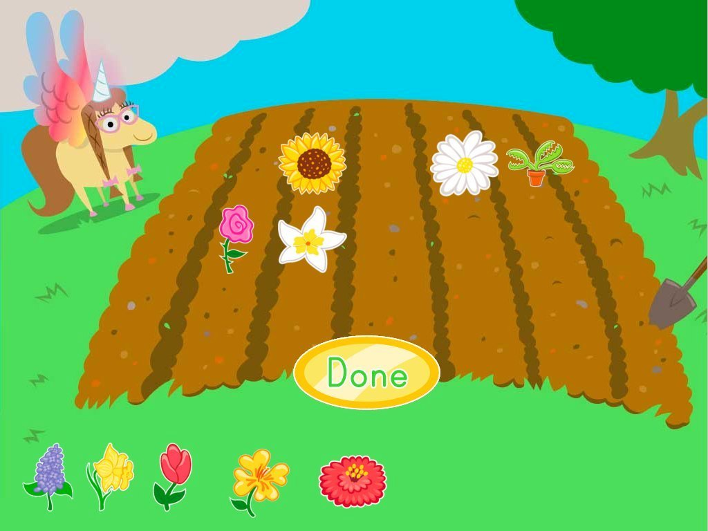 Kindergarten Math Games: Penelope's Flower Subtraction