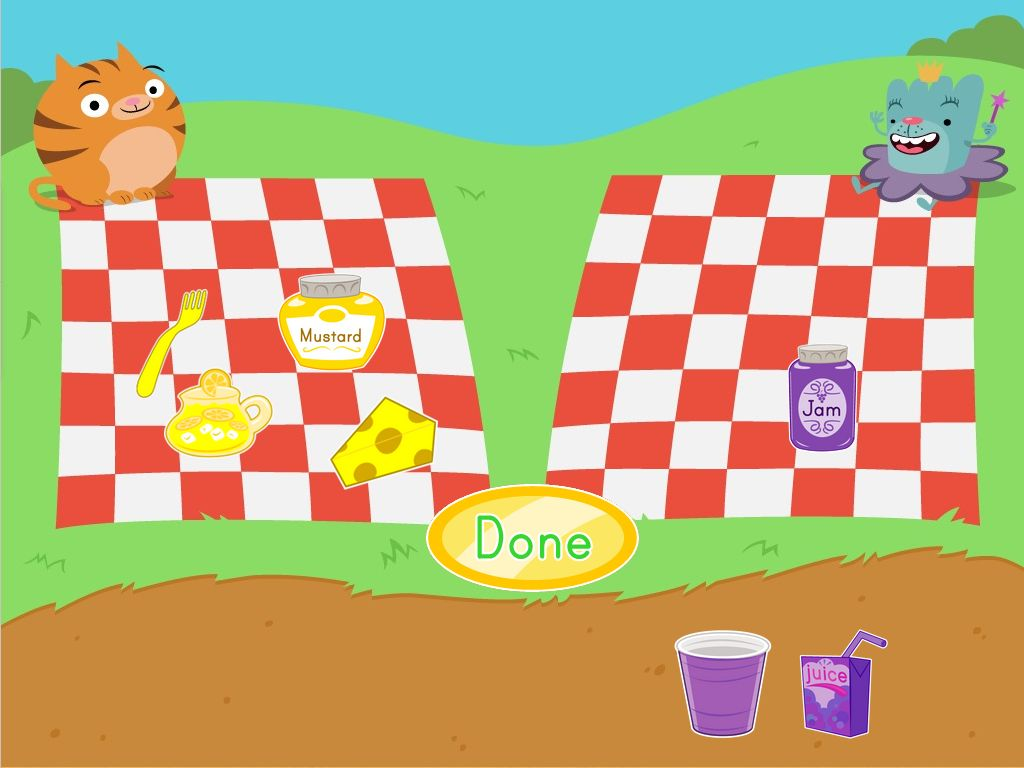 Picnic Color Sorting Game | Game | Education.com