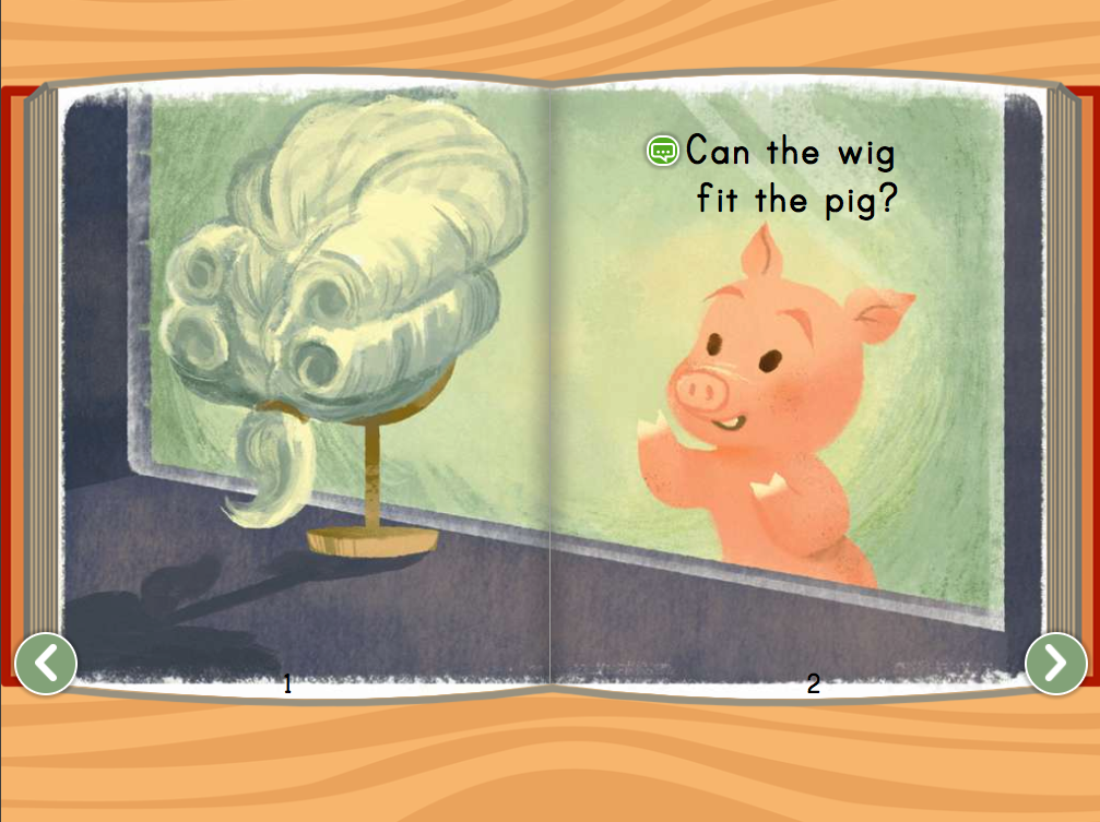 Kindergarten Reading & Writing Stories: Pig Wig Story