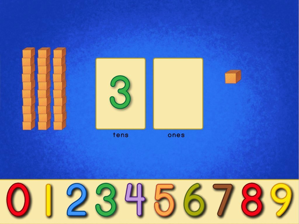 1st grade Math Games: Place Value Blocks