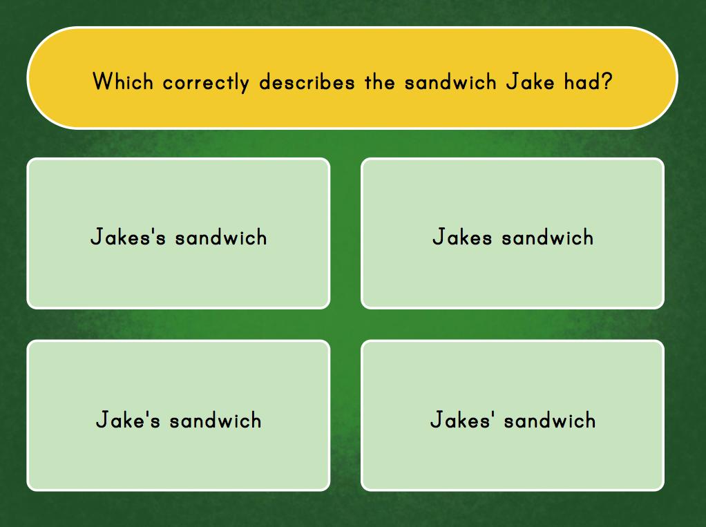 possessive apostrophe quiz game education com