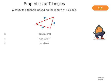 5th grade Math Exercises: Properties of Triangles