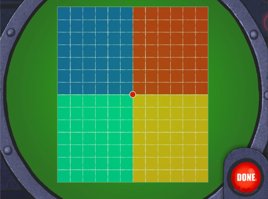 4th grade Math Games: Radar Multi-Digit Arrays