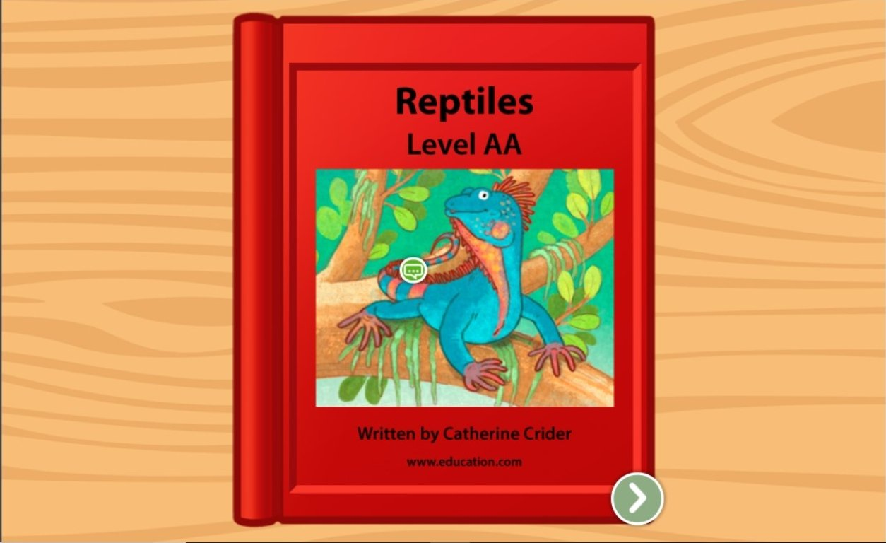 Preschool Reading & Writing Stories: Reptiles: Level AA
