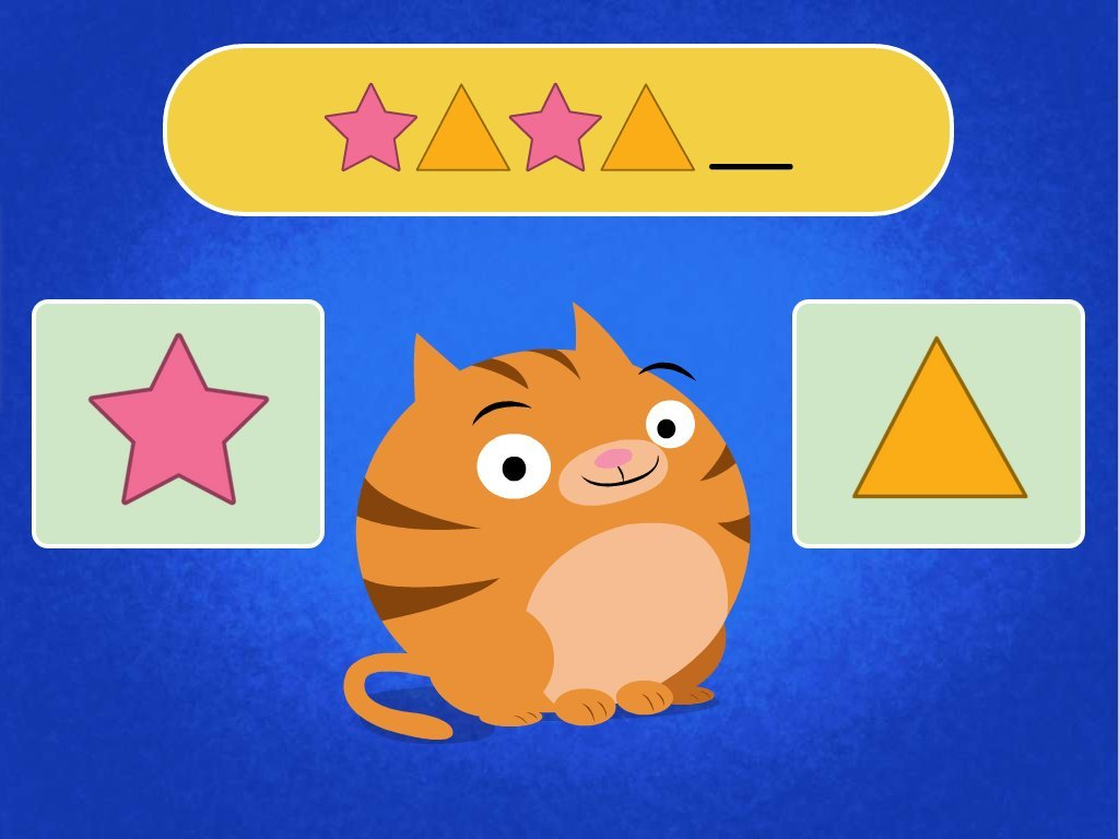 preschool Math Games: Roly's Pattern Quiz