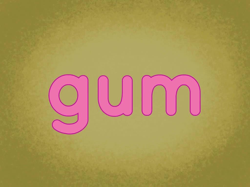 Kindergarten Reading & Writing Games: Segmenting Gum Stretch 2