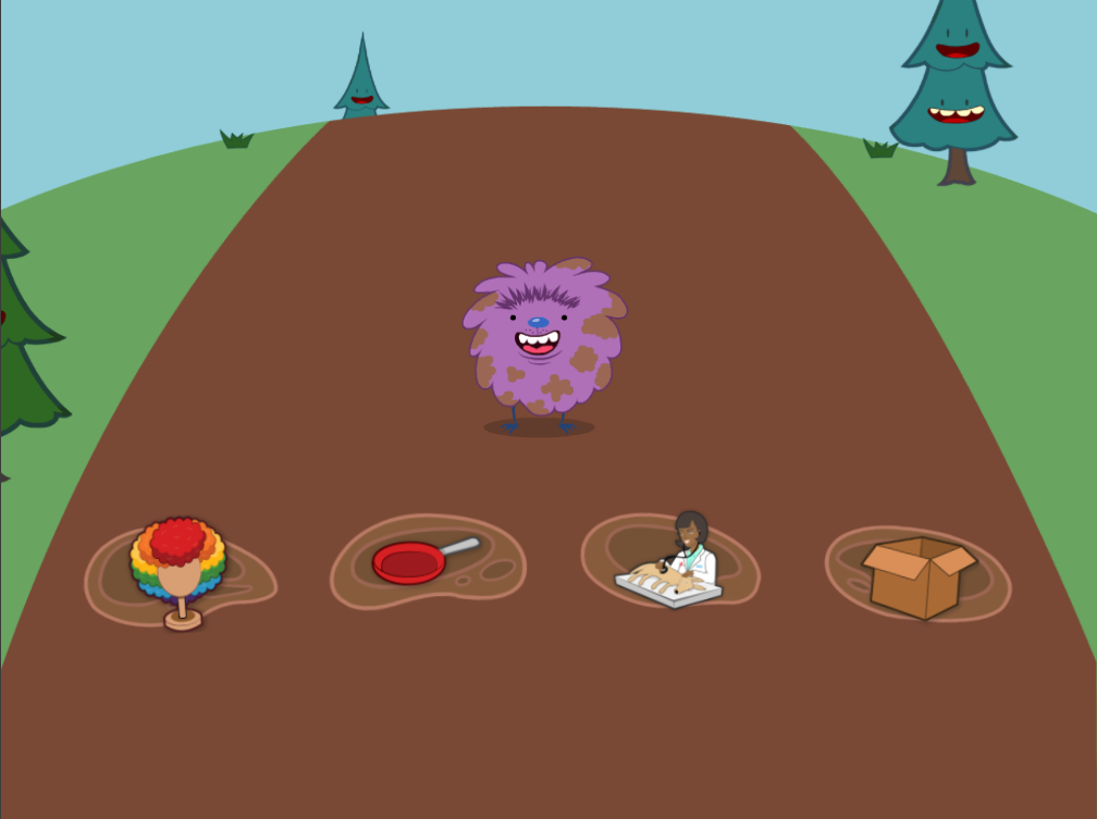 kindergarten Reading & Writing Games: Short E Mud Hopper
