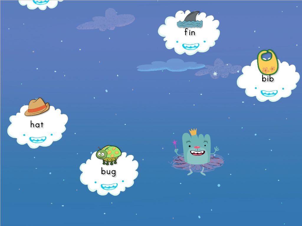 kindergarten Reading & Writing Games: Short I Cloud Catcher