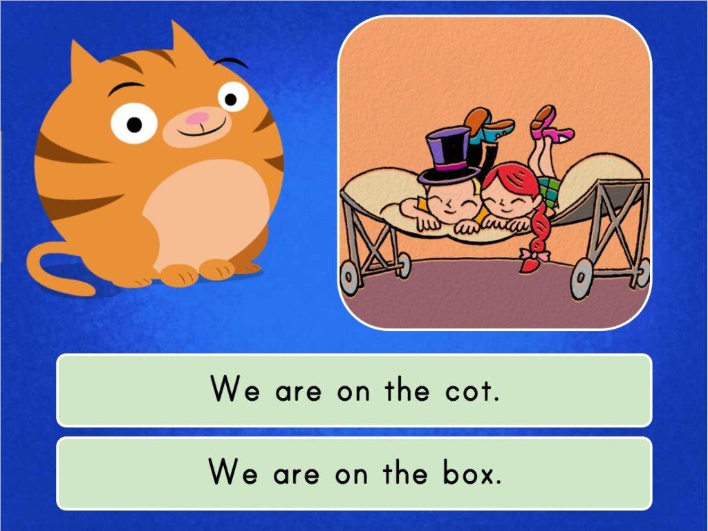 1st grade Reading & Writing Games: Short O Sentence Match