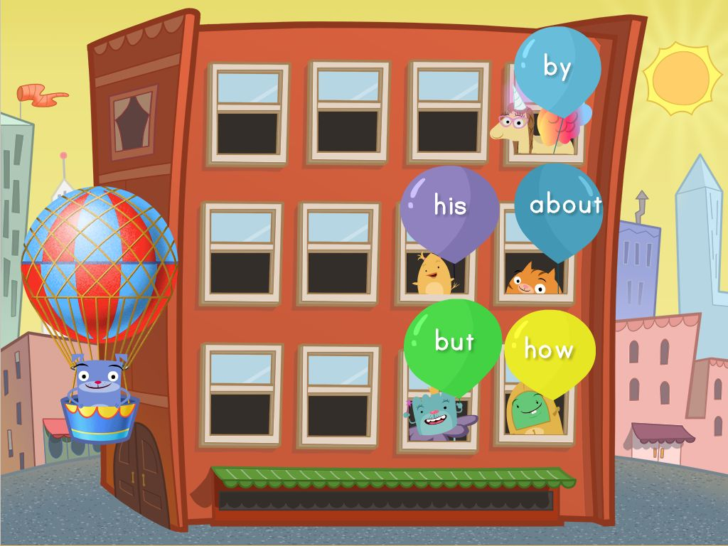 1st grade Reading & Writing Games: Sight Words Balloon Pop: Set 1