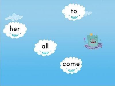 Sight Words Cloud Catcher: Set 1