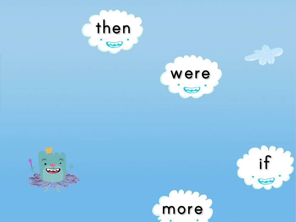 1st grade Reading & Writing Games: Sight Words Cloud Catcher: Set 2