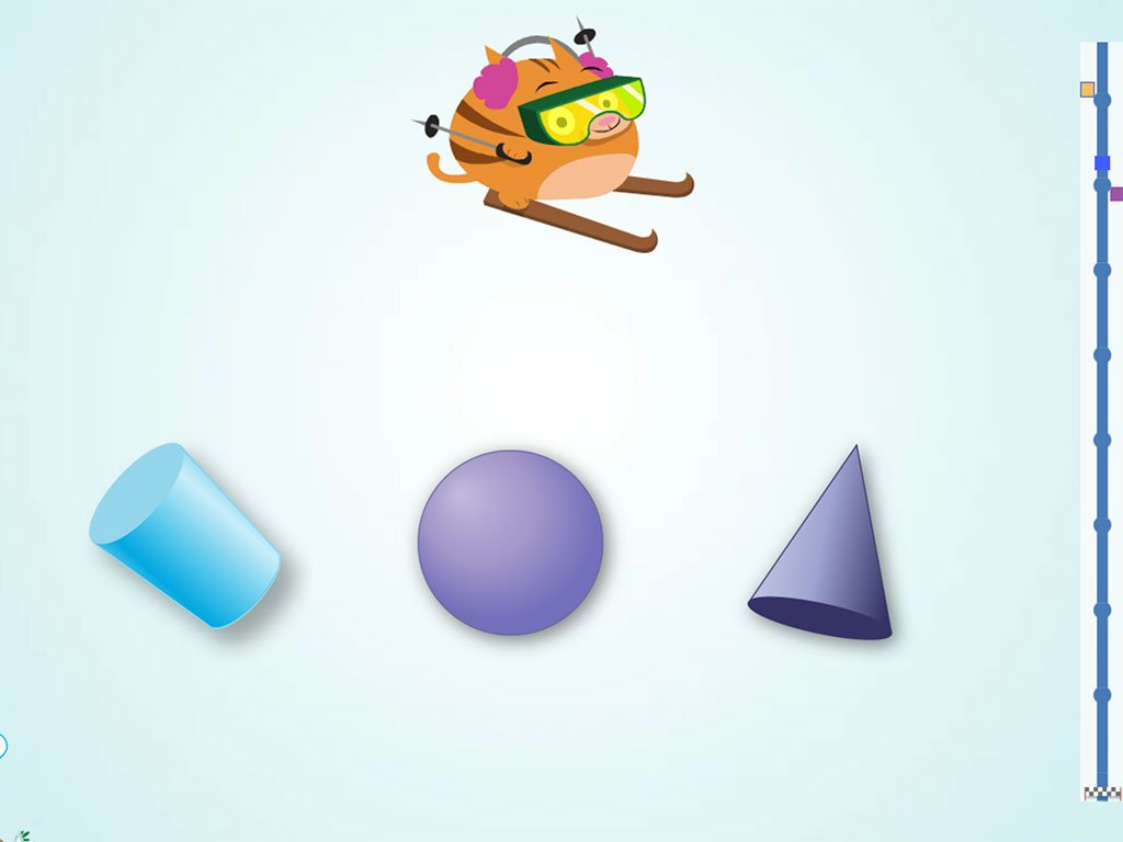 Kindergarten Math Games: Ski Racer: 3D Shapes