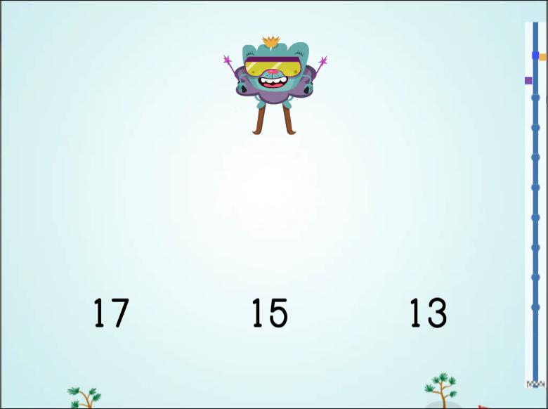 Kindergarten Math Games: Ski Racer: Numbers 11-20