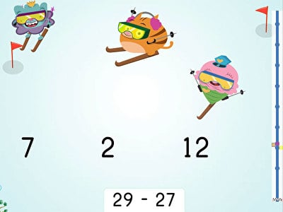 Ski Racer: Subtraction Within 30