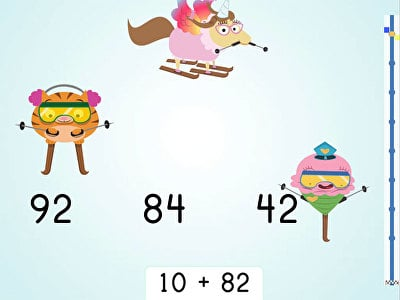 Ski Racer: Two-Digit Addition and Finding 10 More