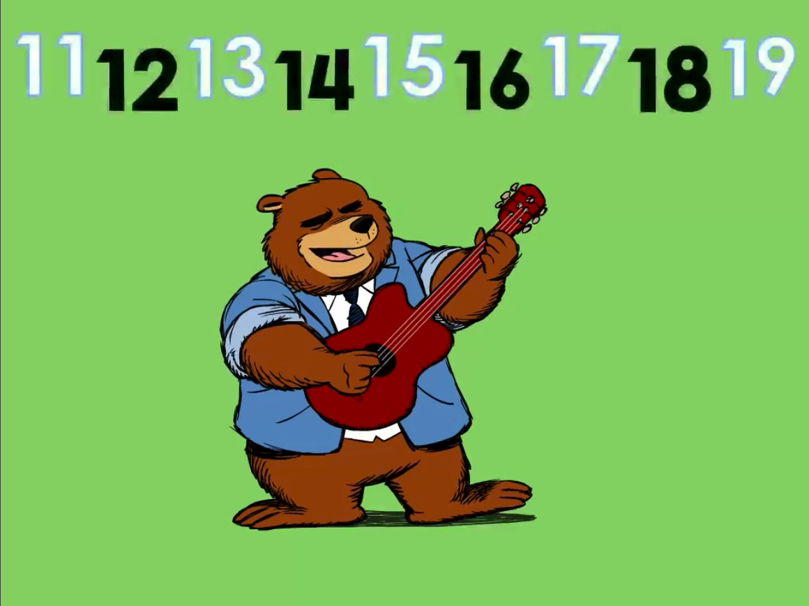 Preschool Math Songs: Something Happens In The Teens