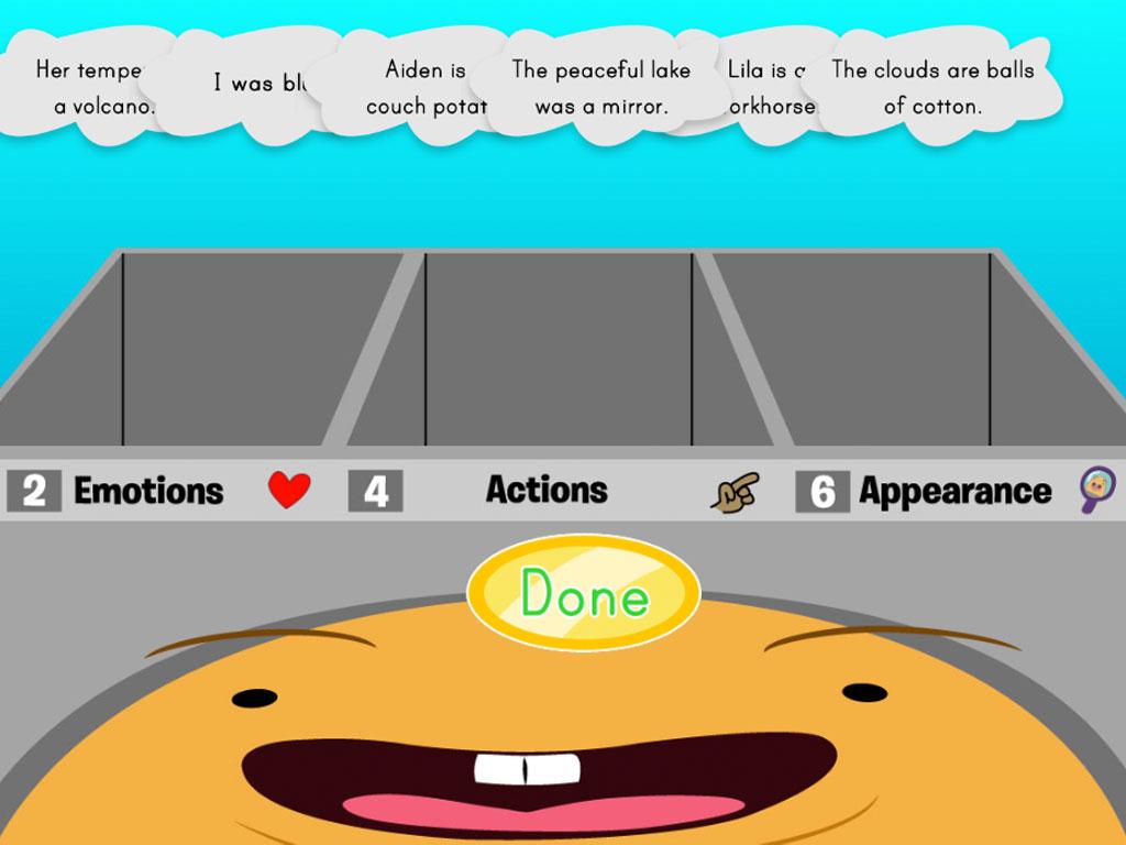 3rd grade Reading & Writing Games: Sorting Metaphors