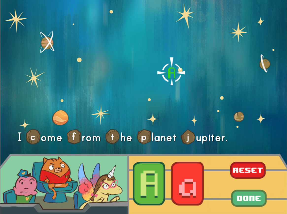 3rd grade Reading & Writing Games: Proper Nouns Space Smash