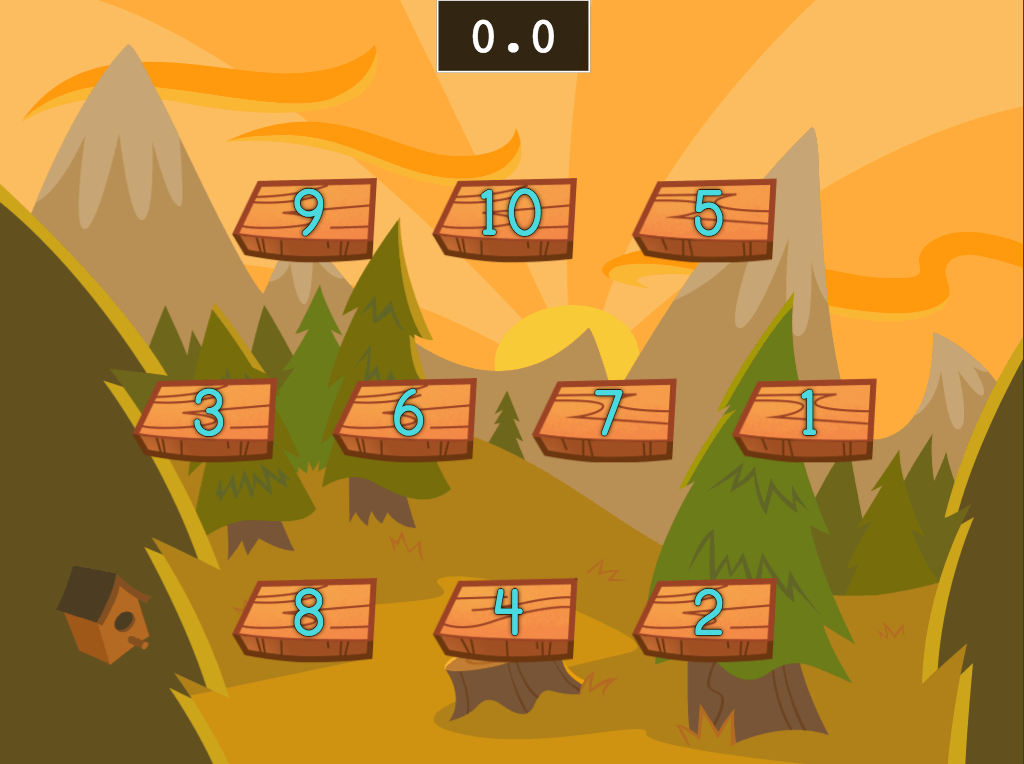 Preschool Math Games: Speed Counting 1 to 10