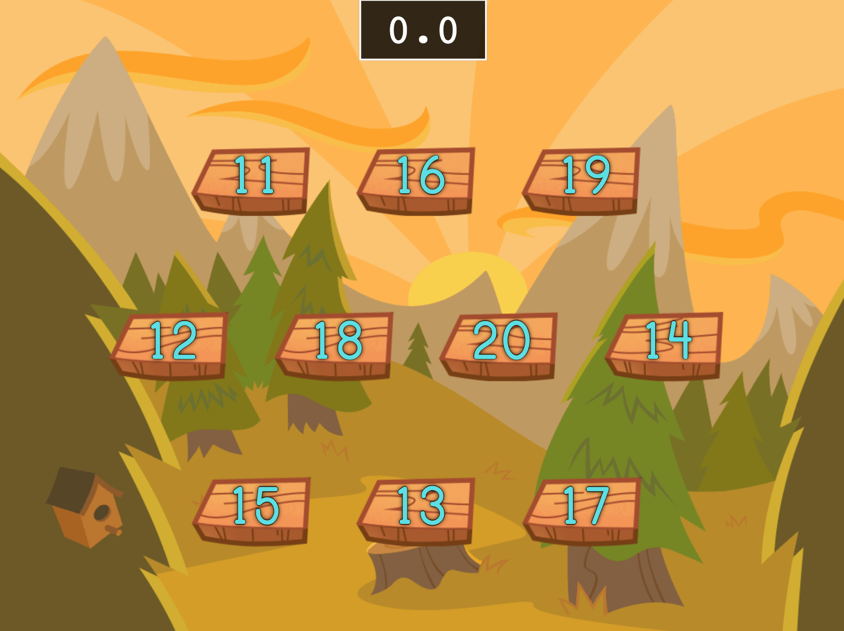 Speed Counting to 11-20 Game | Game | Education.com