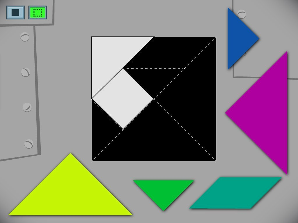 Preschool Math Games: Square Tangram Challenge