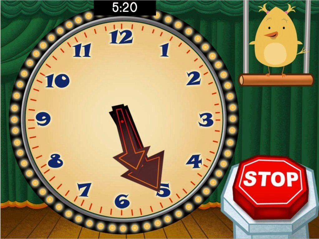 2nd grade Math Games: Stop the Clock!