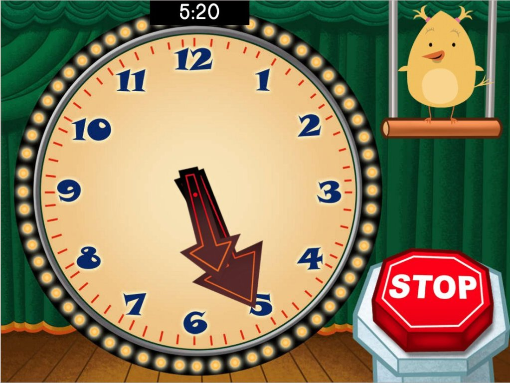 Stop the Clock! Time to 5 Minutes Game | Game | Education.com