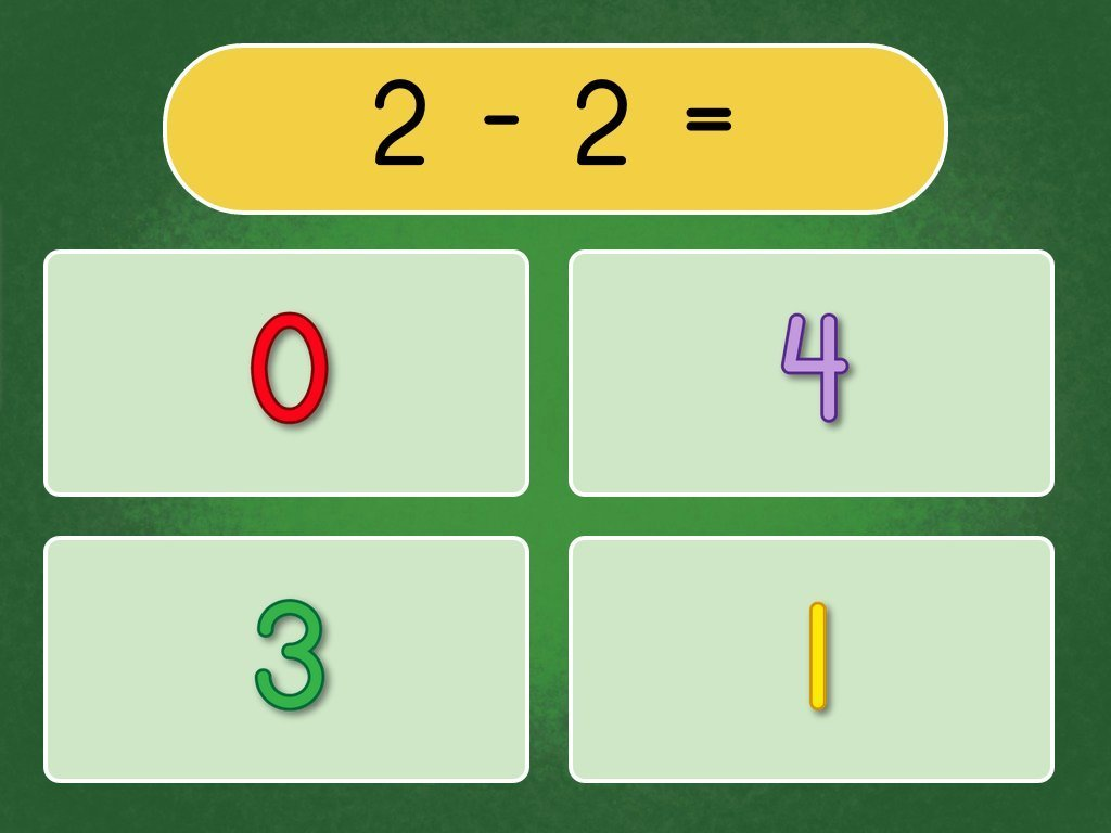 Kindergarten Math Games: Quiz: Subtraction Within 10