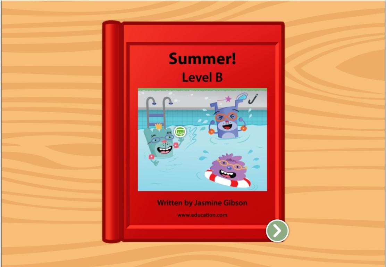 Kindergarten Reading & Writing Stories: Summer: Level B