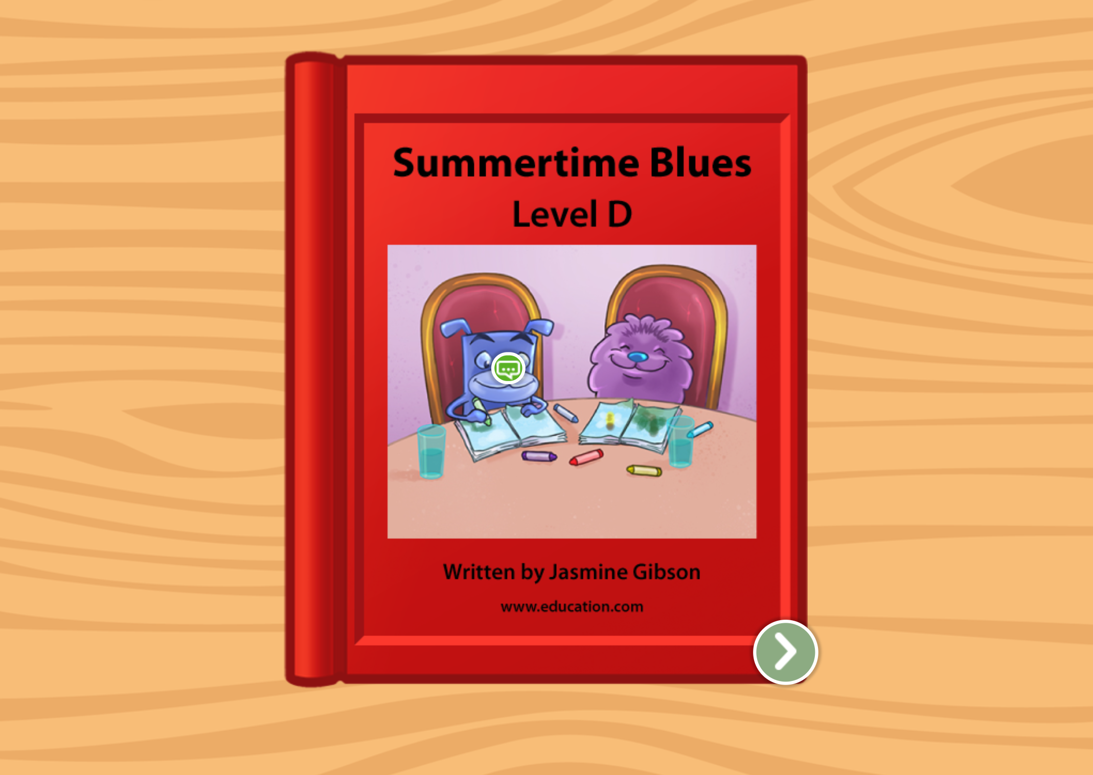 Kindergarten Reading & Writing Stories: Summertime Blues: Level D