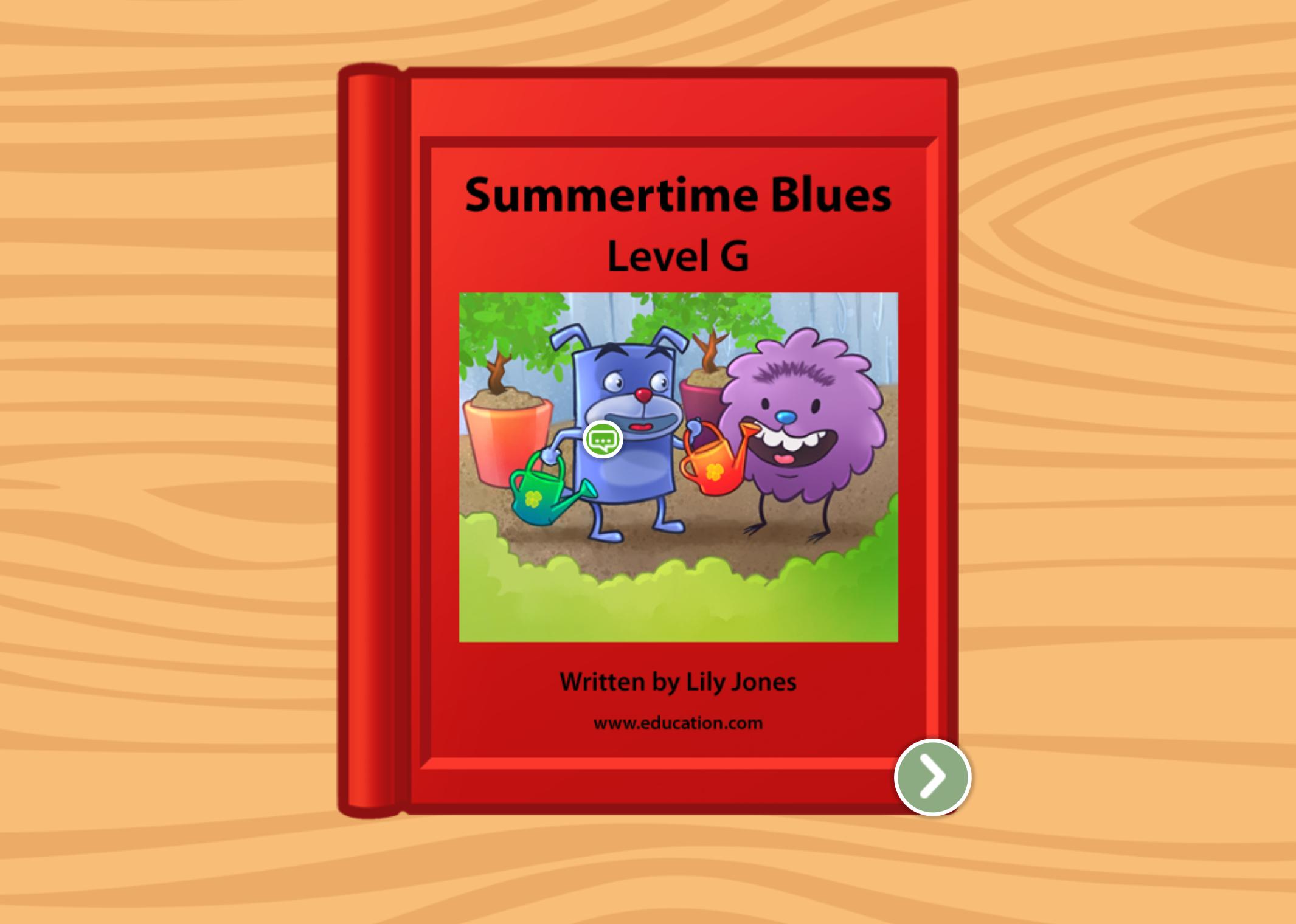 1st grade Reading & Writing Stories: Summertime Blues: Level G