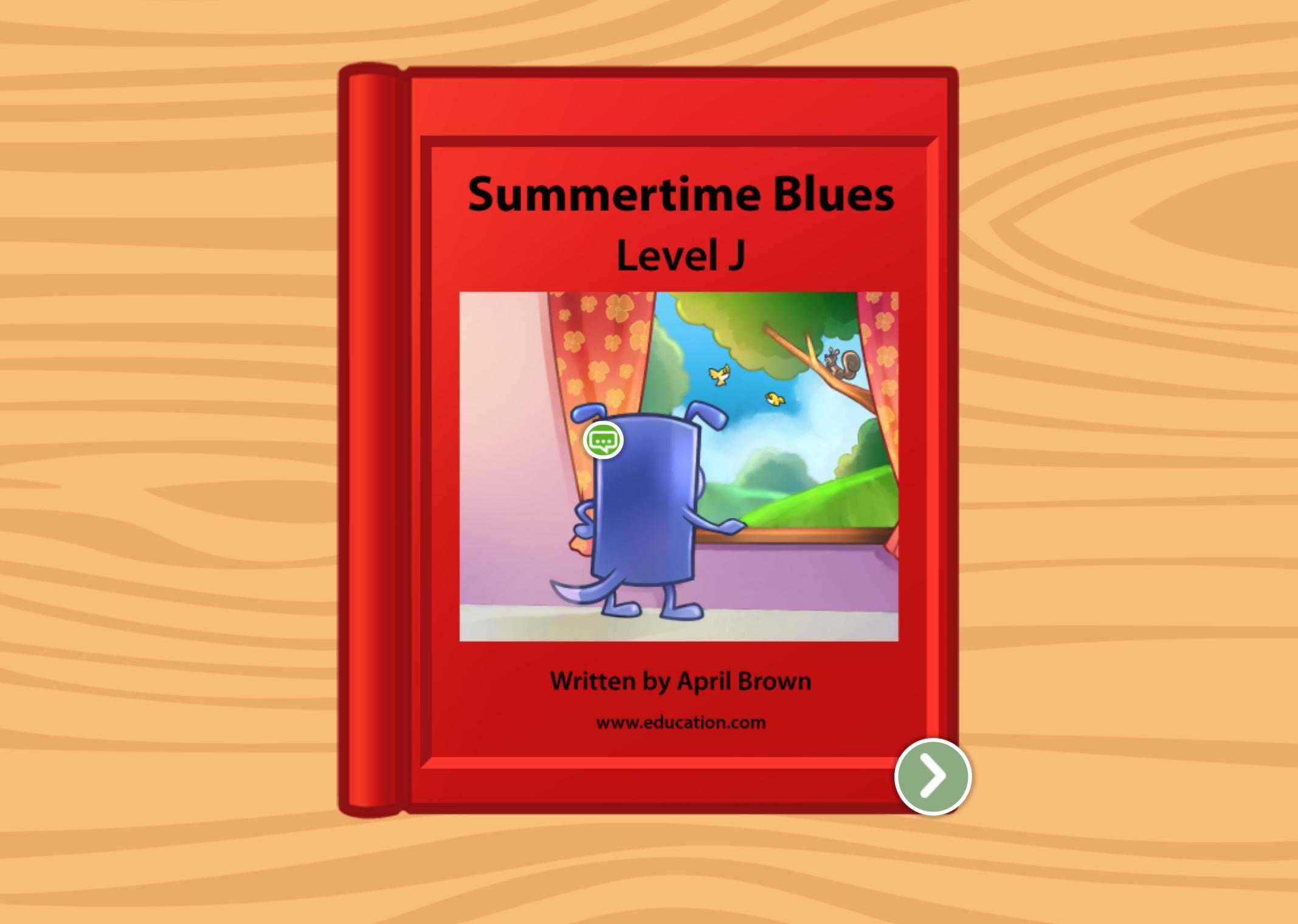 1st grade Reading & Writing Stories: Summertime Blues: Level J