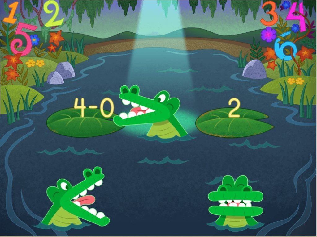 1st grade Math Games: Swamp Subtraction