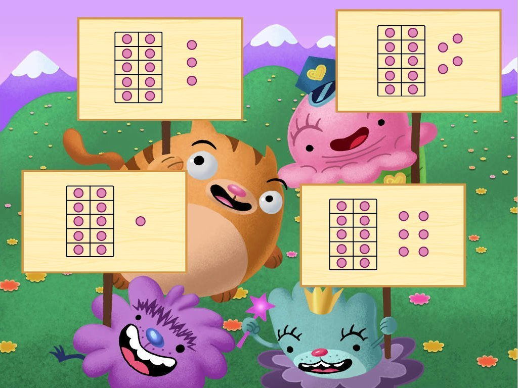 Kindergarten Math Games: Ten Frame Signs