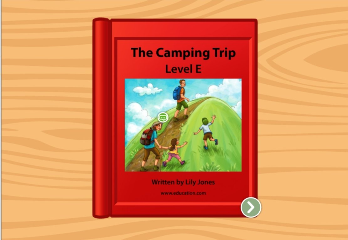 1st grade Reading & Writing Stories: The Camping Trip: Level E