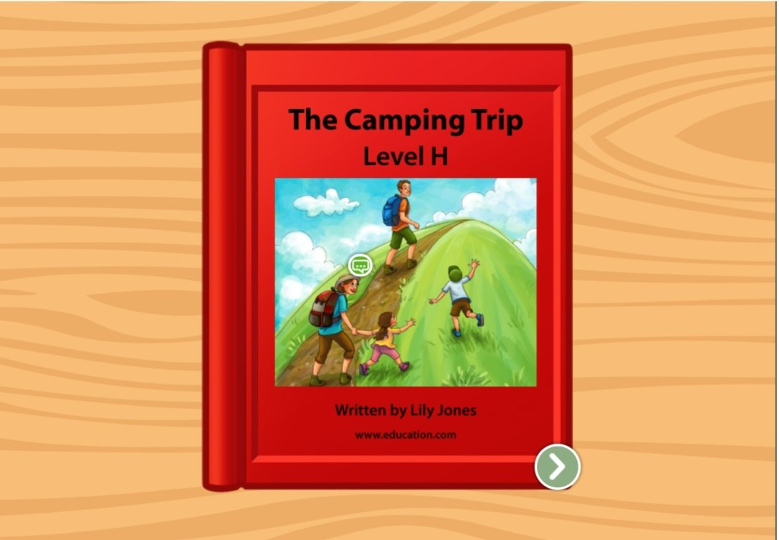 1st grade Reading & Writing Stories: The Camping Trip: Level H