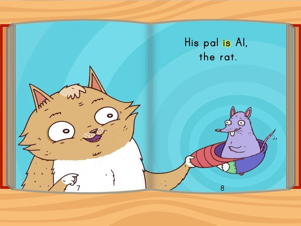 1st grade Reading & Writing Stories: The Cat and the Rat