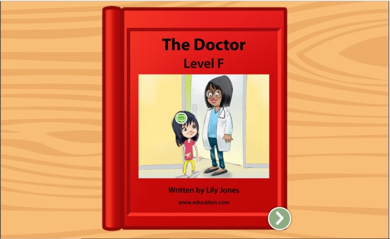 1st grade Reading & Writing Stories: The Doctor: Level F