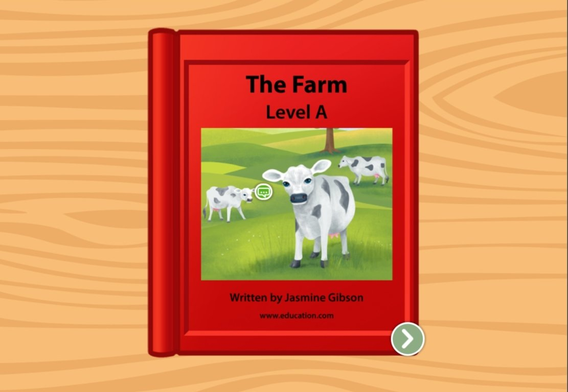 preschool Reading & Writing Stories: The Farm: Level A