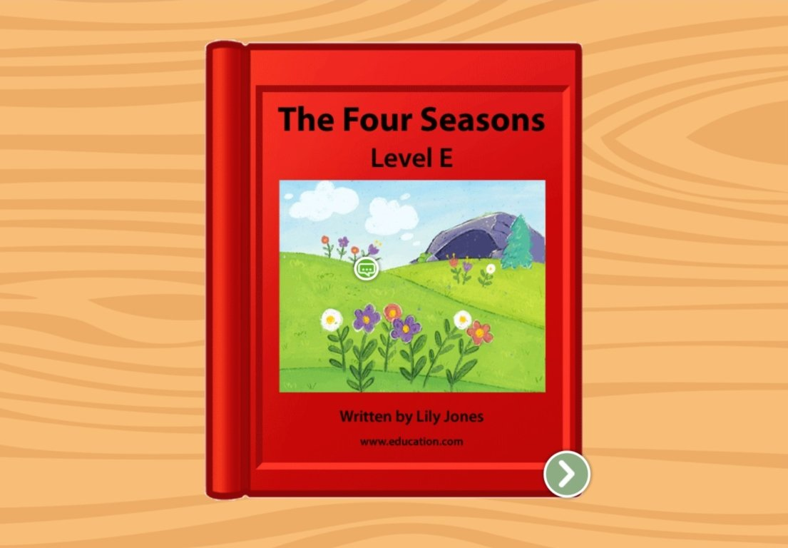 1st grade Reading & Writing Stories: The Four Seasons: Level E